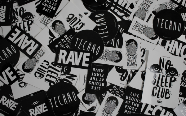 Techno und Rave Sticker von RAVE Clothing